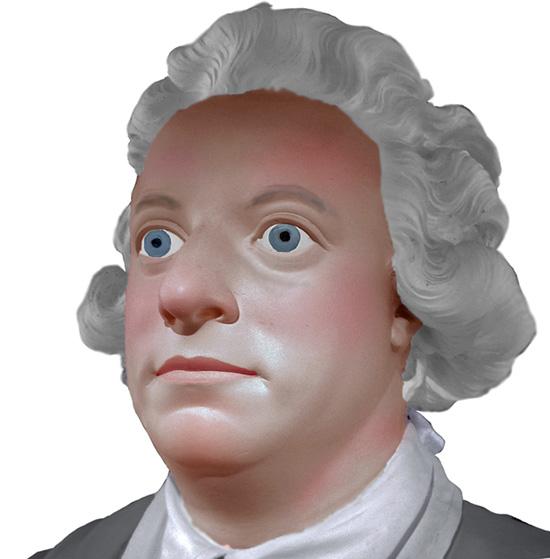 Hur såg karl'n egentligen ut? Historiker klagar över att alla porträtt av honom verkar föreställa olika personer. Här ett experiment, Sergels byst av kungen ansågs mycket porträttlik. Vi färglägger den – och vips framträder en person. Så såg han ut!