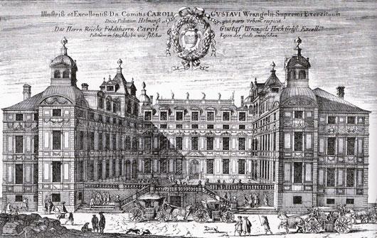 Wrangelska palatset i sin glans dagar