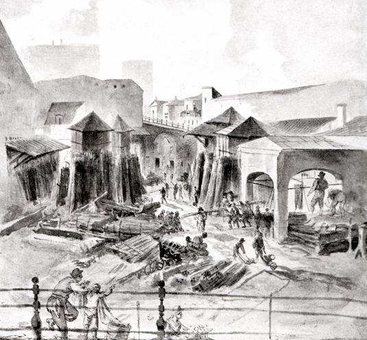 Järngraven vid Slussen var på 16- och 1700-talen centrum för Sveriges järnexport. Här vägdes och omlastades allt järn från Bergslagen innan det gick ut i världen. Sverige var vid denna tid Europas ledande järnproducent.