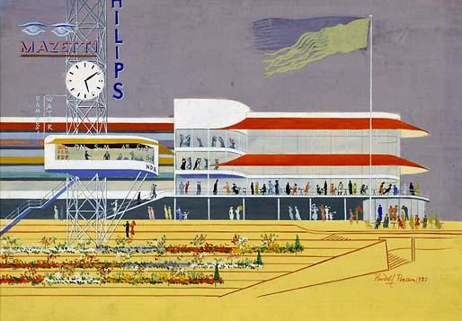 Funkisutställningen 1930 omvände Stockholms byggare och arkitekter i ett enda svep till en helt ny estetik som i Sverige fick namnet funktionalism. På bilden syns utställningens huvudbyggnad.