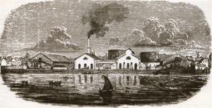 Det första gasverket byggdes av ett privat bolag och startade leveranserna av