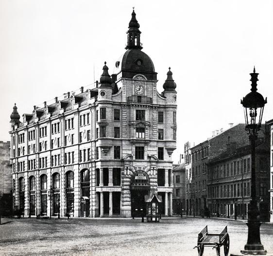 Det första Nordiska Kompaniet vid Stureplan, nuvarande Johnsonhuset