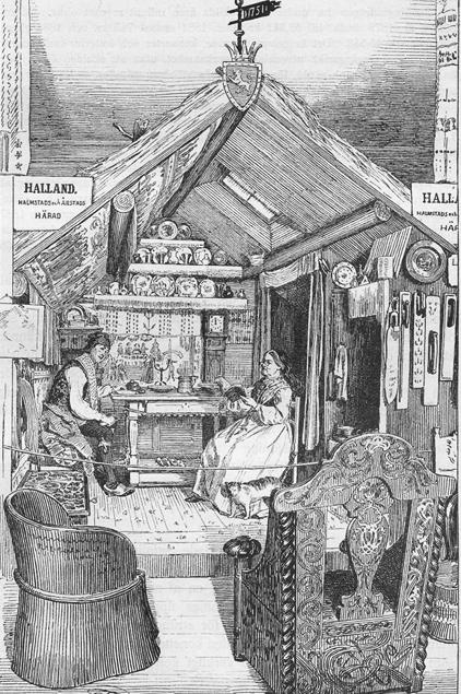 Artur Hazelius första folklivsutställningar i lokalen på Drottninggatan blev en stor succé hos stockholmspubliken.