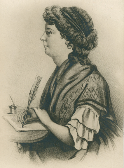 Fru Lenngren var ibland generad över sin lärdom som inte ansågs passa en kvinna.