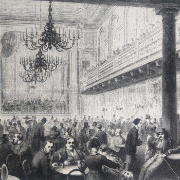 Stockholms glada krogliv på 1800-talet före spritrestriktionernas tid.